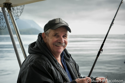 After catching a salmon…. Bob's back!