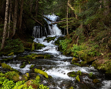 Waterfall  Washington State watercolor/fine art photograph