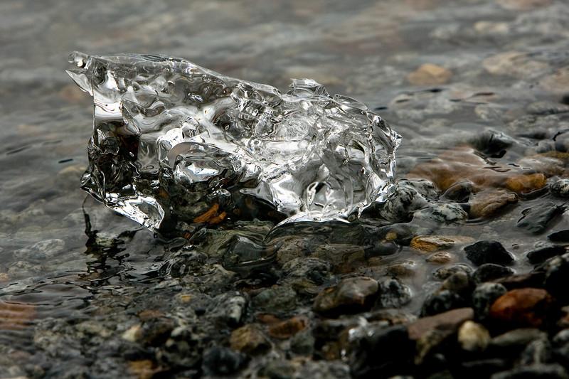 Glacier ice piece