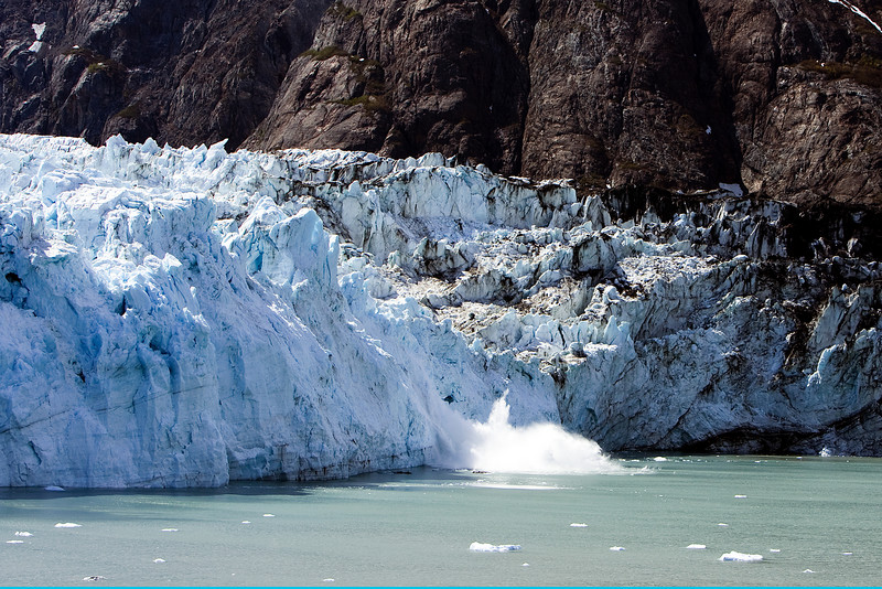 Iceberg calving - Glacier Bay