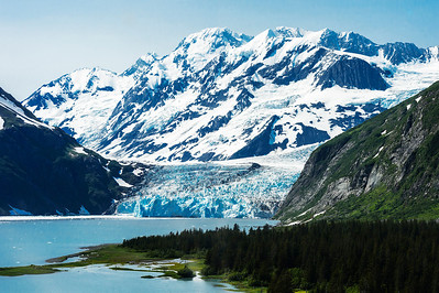 Surprise Glacier in Prince William Sound Alaska