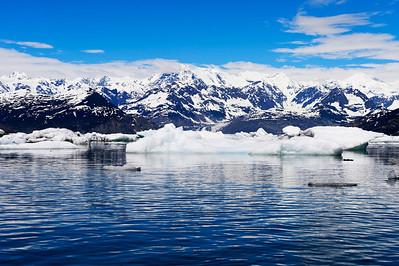 Columbie Glacier from a Sea Kayak in Prince William Sound Alaska