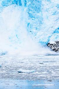 Aialik Glacier calving in Kenai Fjords National Park Alaska
