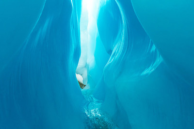 Root Glacier Ice Canyon in Wrangell - St. Elias National Park McCarthy Alaska