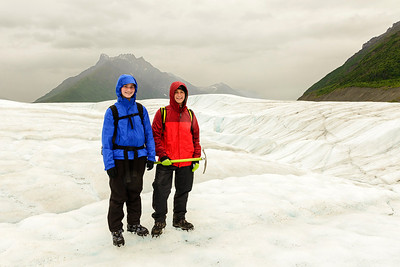 The Exploreres on Root Glacier in Wrangell - St. Elias National Park McCarthy Alaska