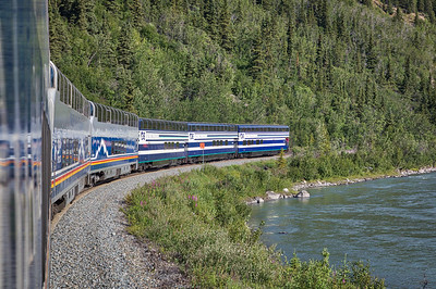 Train from Denali to Anchorage , Alaska-25