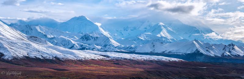 Mountain Denali and red tundra - Denali NP, AK 2012