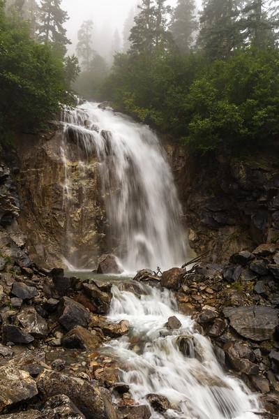Waterfall along the Klondike Highway