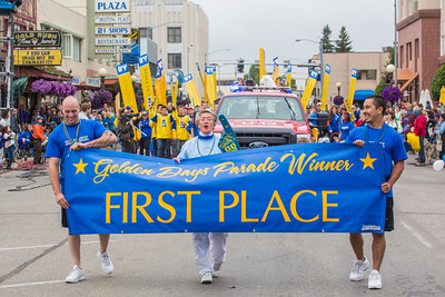More than 200 UAF students, staff, faculty and administrators turned out to participate in the 2013 Golden Days parade through downtown Fairbanks.  Filename: AKA-13-3886-233.jpg