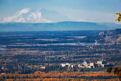 Mt. McKinley seems to loom over the Fairbanks campus from a distance of more than 100 miles away.  Filename: TP-09-2582-01.b.jpg
