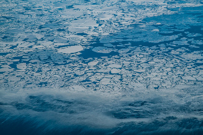 Melting sea ice meets open water in Norton Sound in April, 2016.  Filename: AKA-16-4866-17.jpg