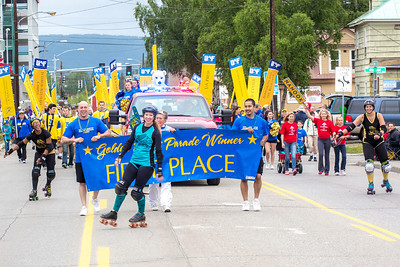 More than 200 UAF students, staff, faculty and administrators turned out to participate in the 2013 Golden Days parade through downtown Fairbanks.  Filename: AKA-13-3886-257.jpg