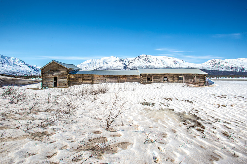 "The historic Black Rapids Lodge was an important resting spot along the Valdez to Fairbanks trail.  <div class=""ss-paypal-button"">Filename: AKA-13-3845-35.jpg</div><div class=""ss-paypal-button-end"" style=""""></div>"