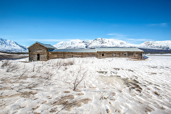 """The historic Black Rapids Lodge was an important resting spot along the Valdez to Fairbanks trail.  <div class=""""ss-paypal-button"""">Filename: AKA-13-3845-35.jpg</div><div class=""""ss-paypal-button-end"""" style=""""""""></div>"""