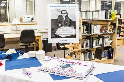 UAF commemorated the late Sen. Ted Stevens' 90th birthday on Nov. 18, 2013 at the Rasmuson Library.  Filename: AKA-13-4001-7.jpg