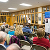 """UAF Northern Studies graduate student Susannah Dowds speaks to an audience on """"Mapping Alaska,"""" an exhibit the late Sen. Ted Steven's career after a ceremony commemorating the senator's 90th birthday at the Rasmuson Library.  <div class=""""ss-paypal-button"""">Filename: AKA-13-4001-136.jpg</div><div class=""""ss-paypal-button-end"""" style=""""""""></div>"""