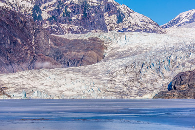 The Mendenhall Glacier near Juneau is one of Alaska's top tourist attractions.  Filename: AKA-14-4059-34.jpg