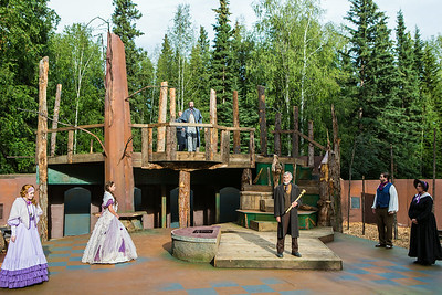 "The Fairbanks Shakespeare Theatre performs ""As You Like It"" in summer of 2014 at the Jack Townshend Point theatre on campus.  Filename: AKA-14-4247-3.jpg"