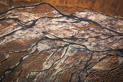 Threaded, multi-channeled rivers are common in northern Alaska.  Filename: AKA-13-3929-149.jpg