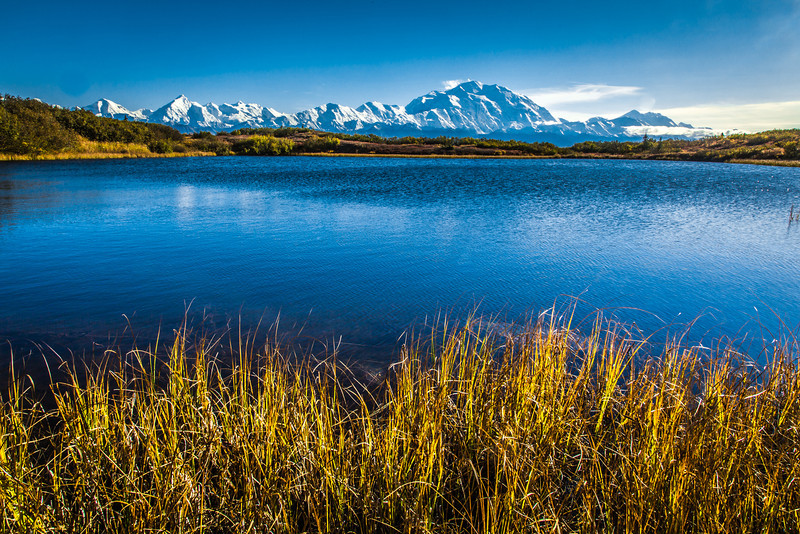 "Mt. McKinley and Wonder Lake are scene amidst autumn splendor in Denali National Park and Preserve.  <div class=""ss-paypal-button"">Filename: AKA-13-3942-319.jpg</div><div class=""ss-paypal-button-end"" style=""""></div>"