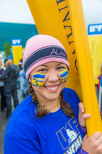 More than 200 UAF students, staff, faculty and administrators turned out to participate in the 2013 Golden Days parade through downtown Fairbanks.  Filename: AKA-13-3886-20.jpg