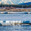 "Mt. Hayes is towers above the Tanana River as the ice breaks off in chunks in mid-May near Delta Junction.  <div class=""ss-paypal-button"">Filename: AKA-13-3845-146.jpg</div><div class=""ss-paypal-button-end"" style=""""></div>"