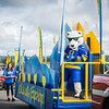 "The Nook dances on board UAF's 2016 Golden Days parade float as UAF students, staff, faculty, alumni and administrators participate in representing the university.  <div class=""ss-paypal-button"">Filename: AKA-16-4939-108.jpg</div><div class=""ss-paypal-button-end""></div>"