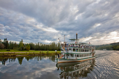 The Riverboat Discovery is one of the top tourist attractions in Fairbanks.  Filename: AKA-10-2843-154.jpg