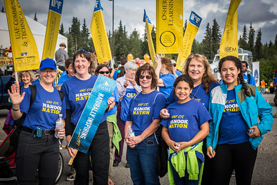 UAF students, staff, faculty, alumni and administrators take part in the 2016 Golden Days parade.  Filename: AKA-16-4939-69.jpg
