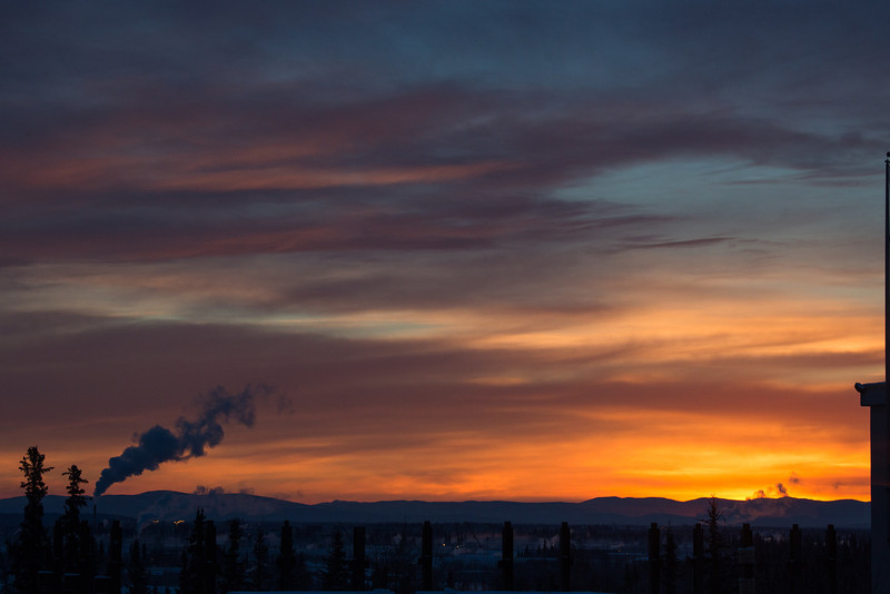 "The sun rises over Fairbanks in February 2014.  <div class=""ss-paypal-button"">Filename: AKA-14-4074-7.jpg</div><div class=""ss-paypal-button-end""></div>"