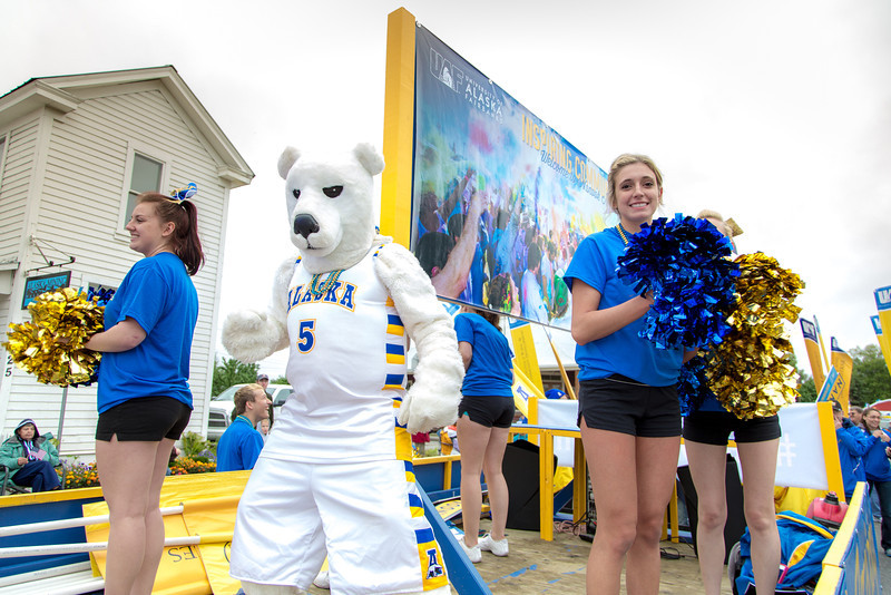 "More than 200 UAF students, staff, faculty and administrators turned out to participate in the 2013 Golden Days parade through downtown Fairbanks.  <div class=""ss-paypal-button"">Filename: AKA-13-3886-211.jpg</div><div class=""ss-paypal-button-end"" style=""""></div>"