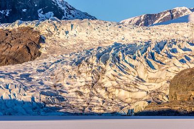 The Mendenhall Glacier near Juneau is one of Alaska's top tourist attractions.  Filename: AKA-14-4059-206.jpg