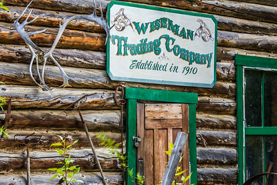 The historic mining town of Wiseman, with a population of 14 at the 2010 census, is located along the Koyukuk River about 60 miles north of the Arctic Circle.  Filename: AKA-14-4213-087.jpg