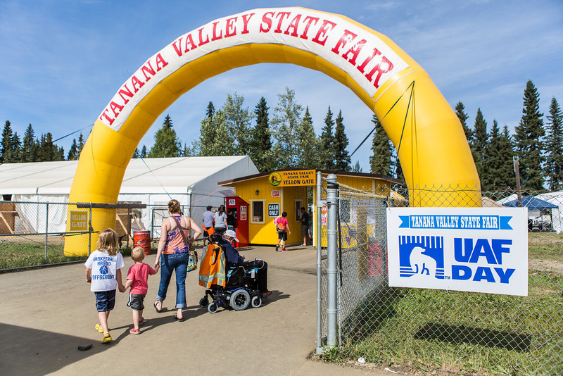 """A group of people enter the Tanana Valley State Fair during UAF Day.  <div class=""""ss-paypal-button"""">Filename: AKA-13-3900-9.jpg</div><div class=""""ss-paypal-button-end"""" style=""""""""></div>"""