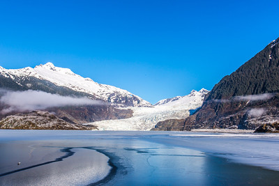 The Mendenhall Glacier near Juneau is one of Alaska's top tourist attractions.  Filename: AKA-14-4059-20.jpg