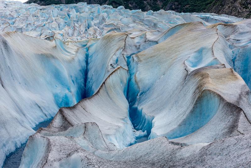 Crevasses & Streams of Water
