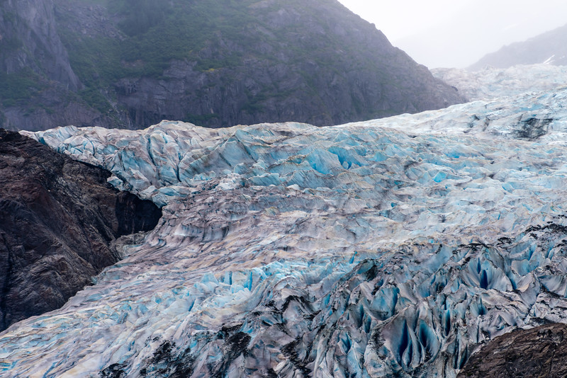 Mendenhall Crevasses Split the Ice