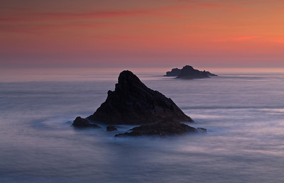 Bull Rock from Trevose Head, Cornwall