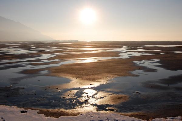 Winter Sun, Great Salt Lake, Utah