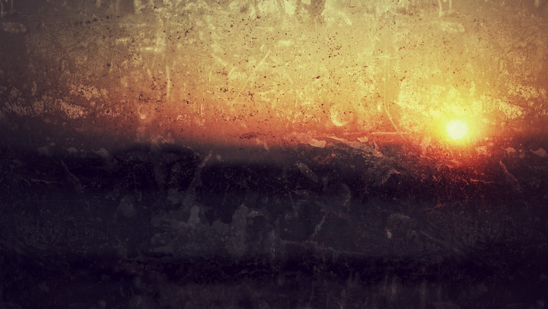 Sunset Through a Dirty Window