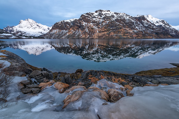 Photograph: A Morning in Lofoten - Sunrise at Møysalen National Park in the Lofoten Islands, Norway.