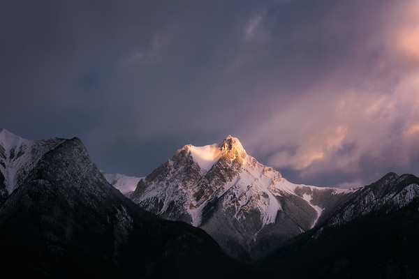 Photograph: Mountain Light - Morning light hits Gargoyle Mountain in Jasper National Park, Alberta, Canada.