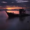 Sunken<br /> A sunken shipwreck off the Tan Jetty in Penang, Malaysia
