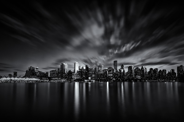 Photograph: Vancouver - Monochrome long exposure of Vancouver in British Columbia, Canada.