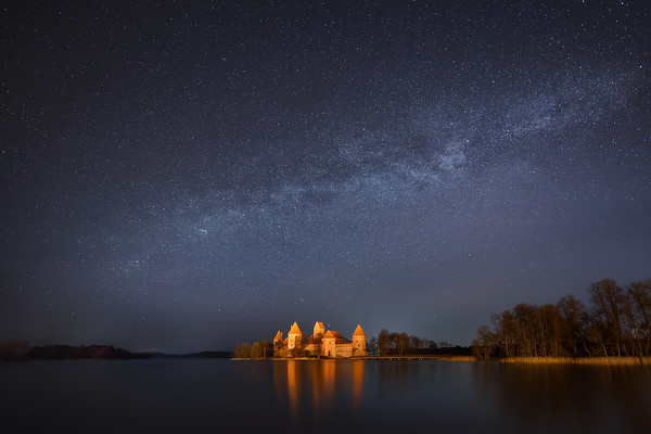 Photograph: A Lithuanian Fairy Tale - The Milky Way above Trakai Island Castle in Lithuania.
