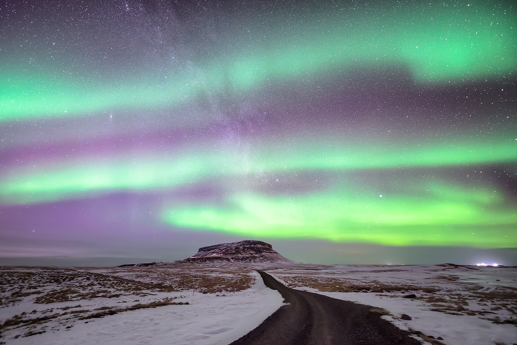 Photograph: The Green Tiger - Stripes of aurora borealis across the Icelandic night sky near Grundarfjörður.