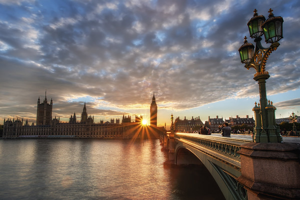 Photograph: Staring At The Sun - Sunset behind the Houses of Parliament in Westminster.