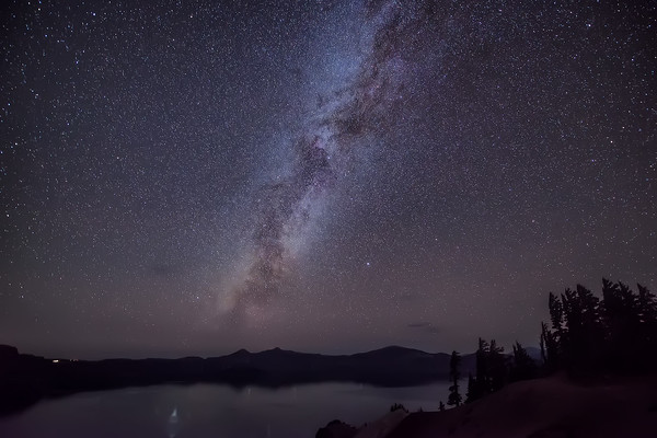 Photograph: Crater Lake Milky Way - The Milky Way above Crater Lake in Oregon, USA.