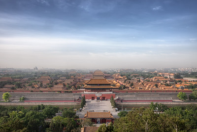 Forbidden Cityscape View of Beijing's Forbidden City from Jingshan Park