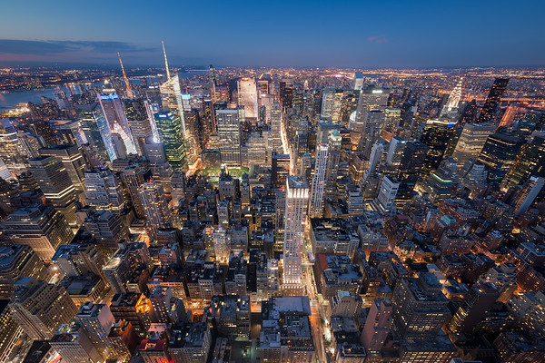 Photograph: Manhattan - Upper Manhattan as seen from the north side of the Empire State Building.